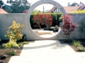 garden-feature-moon-gate-plastered-wall-paving-patio-natural-stone-landscapers-indian-sandstone-landscaping-company-landscape gardener-design-kent