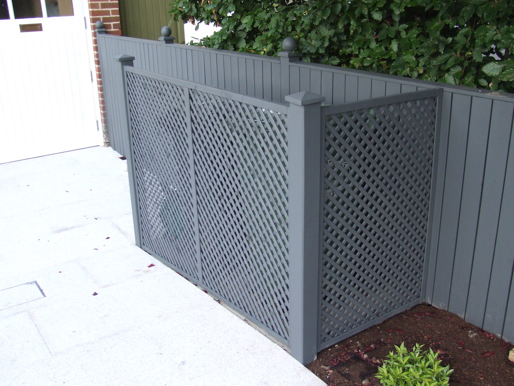 Painted Trellis Ideas Part - 46: 12-timber-fencing-trellis-painted-landscaper-drainage-utility-