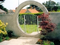 garden-feature-moon-gate-privacy-screening-planting-plastered-wall-paving-patio-natural-stone-landscapers-landscaping-company-landscape-gardener-design-kent