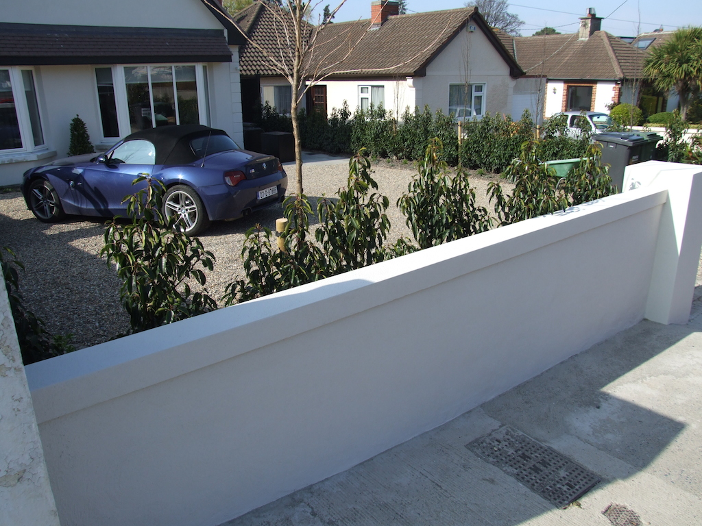 7 Plastered Wall Painted Rendered Driveway Drainage Landscaper