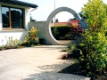 34-garden-feature-moon-gate-privacy-plastered-wall-paving-patio-natural-stone-landscapers-indian-sandstone-landscaping-company-landscape-gardener-design-kent 6