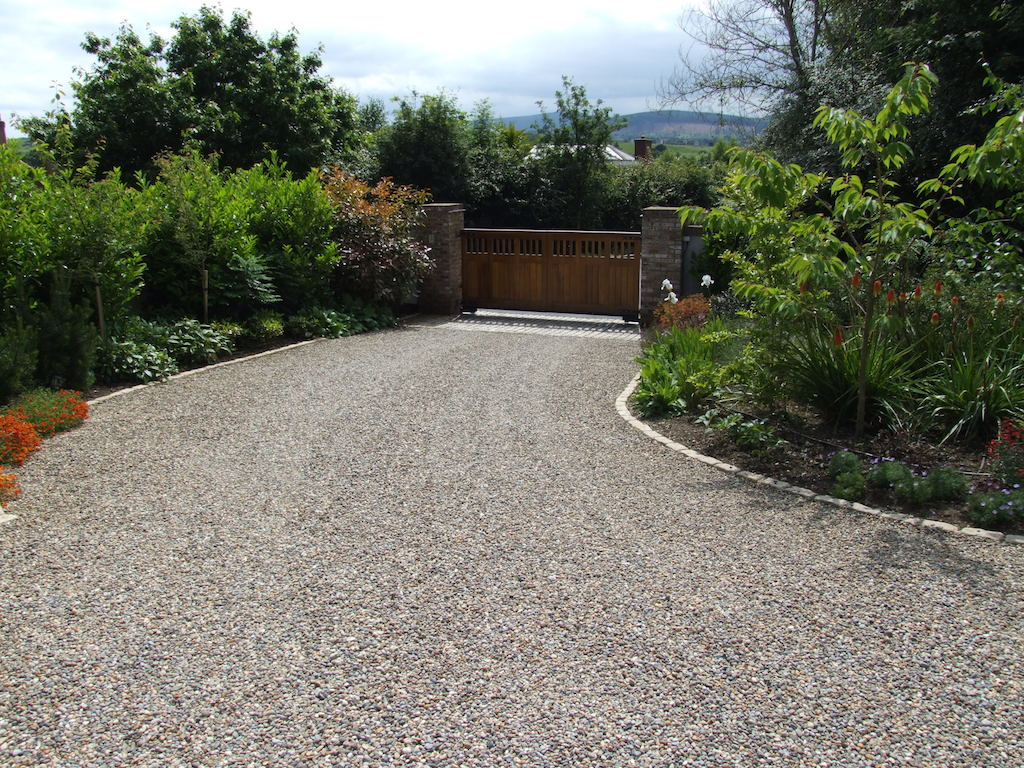 Driveway Landscaping Edging Flower Beds Front Gardens